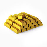 3d render of gold bars. On white Royalty Free Stock Image