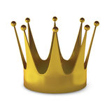 3d render of gold crown. On white Royalty Free Stock Photo