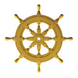 3d render of gold wheel Stock Photography