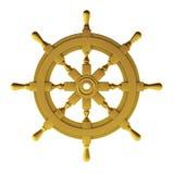 3d render of gold wheel. On white Royalty Free Illustration