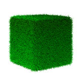 3d render of grass cube Royalty Free Stock Photos