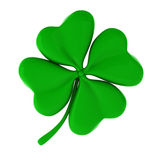 3d render of green clover. On white Royalty Free Stock Photo
