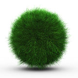 3d render of green grass ball Stock Image