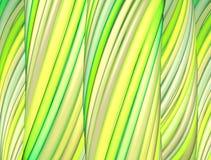3d render green yellow organic wave pattern Stock Image