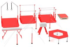 3d render of gym equipment Stock Photos
