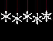 3d Render of Hanging Snowflakes Stock Photos