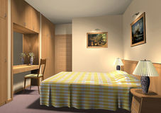 3D render of hotel room Stock Image