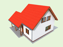 3d render of house Royalty Free Stock Photos