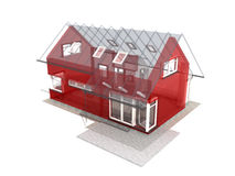 3d render of house Royalty Free Stock Photography