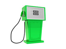 3d render illustration of gas pump over white background. Royalty Free Stock Photography