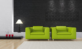 3d render interior Stock Images