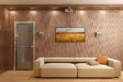 3D render interior Stock Image