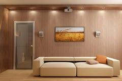 3D render interior Stock Image