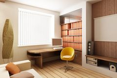 3D render interior royalty free illustration