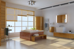 3d render interior of modern bathroom Stock Photography