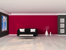 3d render interior of the modern room Stock Images
