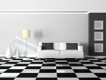 3d render interior of the modern room Royalty Free Stock Images