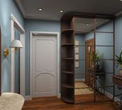 3D render  interior of vestibule Stock Photography