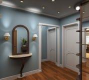 3D render  interior of vestibule Royalty Free Stock Photos