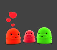 3d render of little monster creature in love Royalty Free Stock Photo