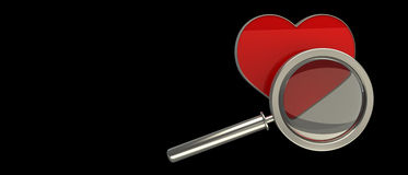 3d render of love search Stock Photos