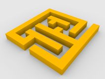 3d render of maze royalty free stock photography