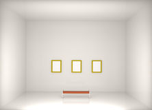 3d render modern art gallery Royalty Free Stock Photography