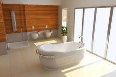 3d render modern bathroom Royalty Free Stock Image