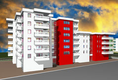 3d render of modern building Stock Image