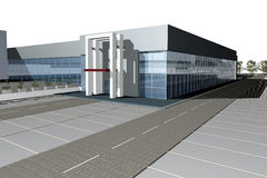 3D render of modern business center Stock Photo