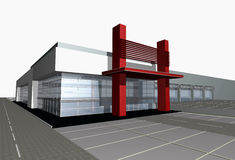 3d render of modern Business center Royalty Free Stock Photography