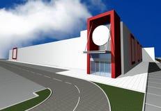 3D render of modern business center Stock Image