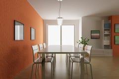 3d render modern dining room Stock Images