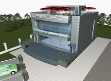 3d render of modern house Stock Photography
