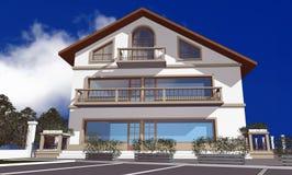 3D render of modern house Stock Photo