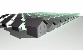 3D render of modern houses Stock Image