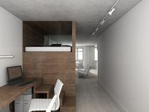 3d render modern interior Stock Photo