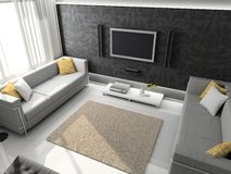 3d render modern interior Royalty Free Stock Photos