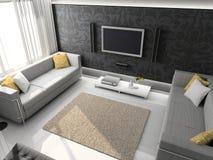 3d render modern interior royalty free stock photos