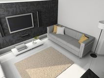 3d render modern interior Stock Photography