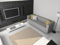 3d render modern interior stock photography