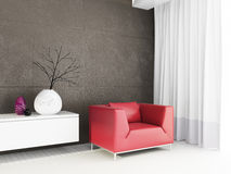 3d render modern interior Stock Images