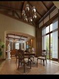 3d render modern interior. 3d render of a modern living room interior Royalty Free Stock Images
