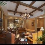 3d render modern interior Stock Photo