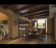 3d render modern interior Stock Photos