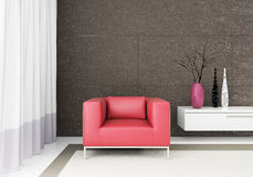 3d render modern interior Royalty Free Stock Photography