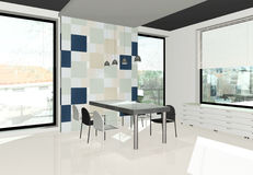 3D render of modern interior Royalty Free Stock Images