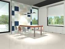 3D render of modern  interior Stock Images