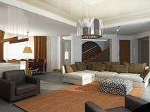 3d render of a modern interior Royalty Free Stock Photos