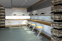 3D render of modern interior. Abstract architecture Vector Illustration